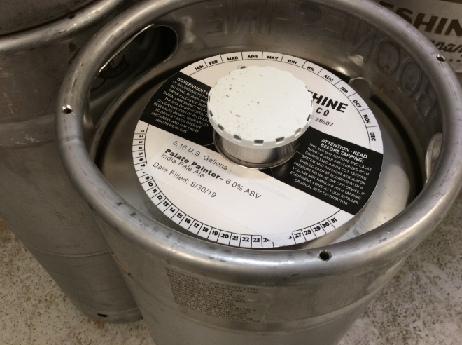 A beer keg from Booneshine